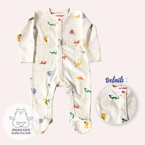 動物圖案嬰兒連體衣 Animal Print Baby Bodysuit