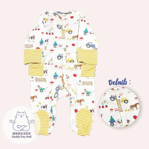 農場圖案嬰兒連體衣 Farm Print Baby Bodysuit