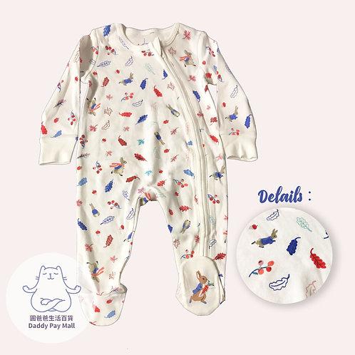 比得兔圖案嬰兒拉鏈連體衣 Peter Rabbit Print Baby Bodysuit with Zip