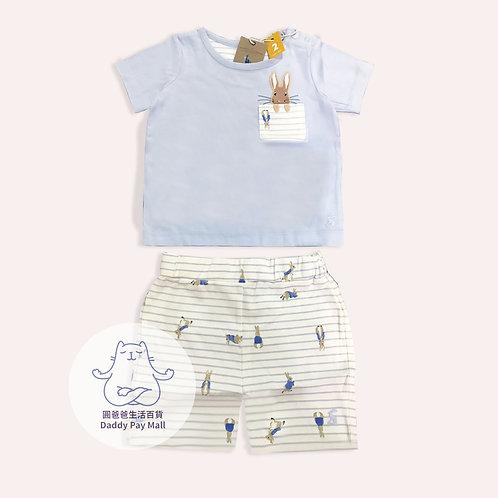 比得兔圖案嬰兒短袖套裝 Peter Rabbit Baby Short Sleeves Set
