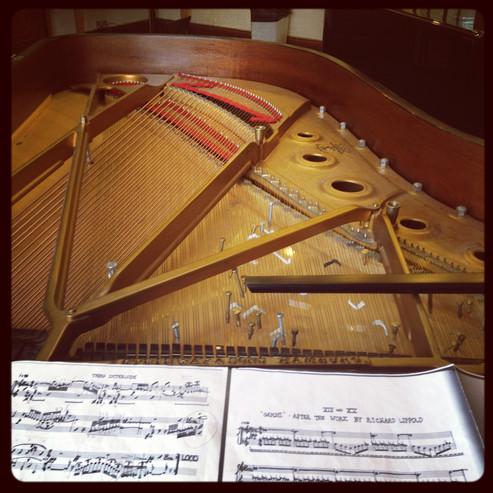 Preparing the piano for John Cage's Sonatas