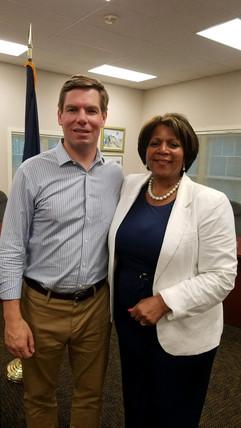 Eric Swalwell with Senator Melanie Levesque