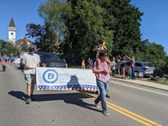 Hollis Dems in the Hollis Old Home Days Parade 2021