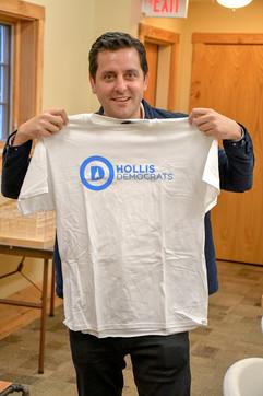 Ben Gleib with the Hollis Democrats