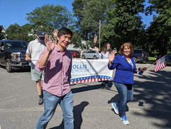 Hollis Dems at the Old Home Days Parade 2021