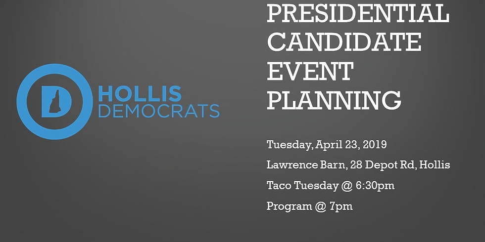 April Meeting: Taco Tuesday & Presidential Candidate Event Planning