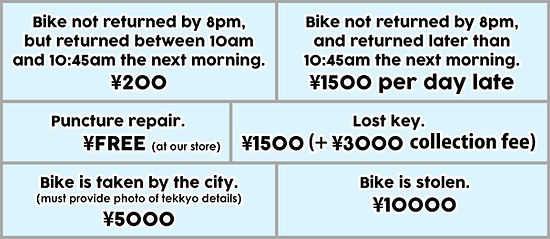 rent a bike osaka rental cycle bicycle rental details deposit