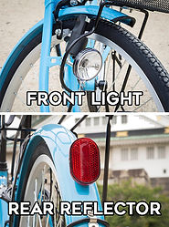 rent a bike osaka rental cycle bicycle route guide tourist japanese bike safety light reflector