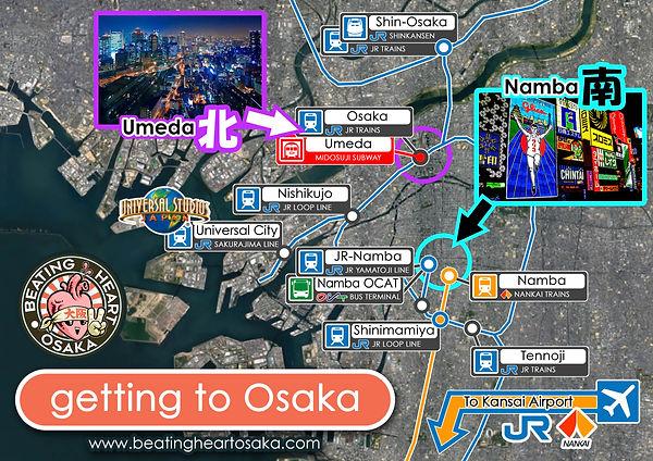 Umeda, Namba, Osaka, Osaka map, travel to Osaka, tourist advice, travel guide