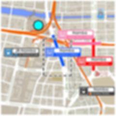 Namba train stations map