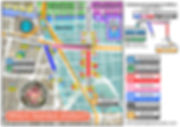 Namba station map, namba, osaka, tourist, guide, map