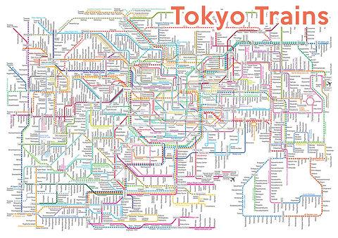 Map, Tokyo, train, subway, tourist, advice
