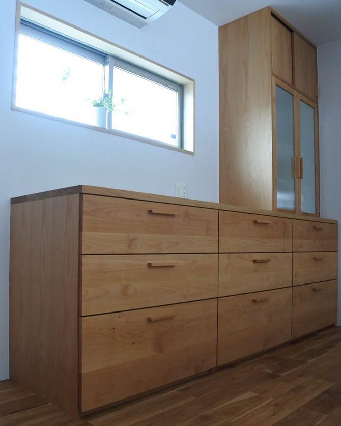 造作食器棚、納品。