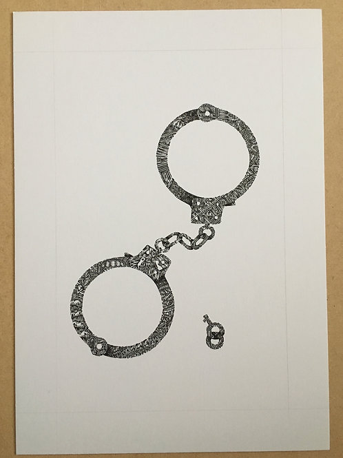 Original Handcuffs Illustration A3