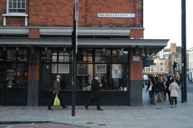 Hackett Spitalfields Market London, Thomas Wolski Art Installation