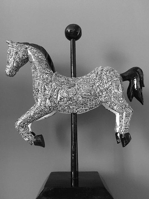 A Little Bit of Luck (2018) | 52cm x 44cm x 15cm | Miniature Wooden Horse