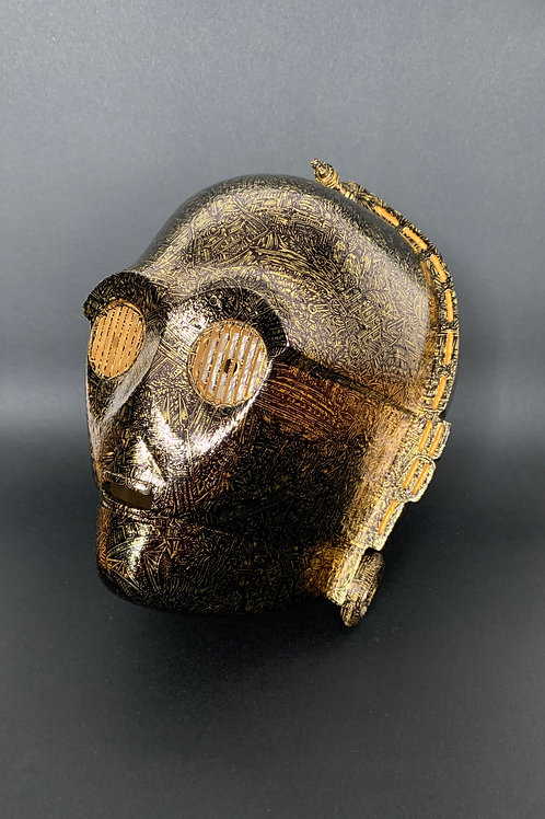 'C-3PO' (2020) Screen size 1:1, 24ct gold leaf rotocast