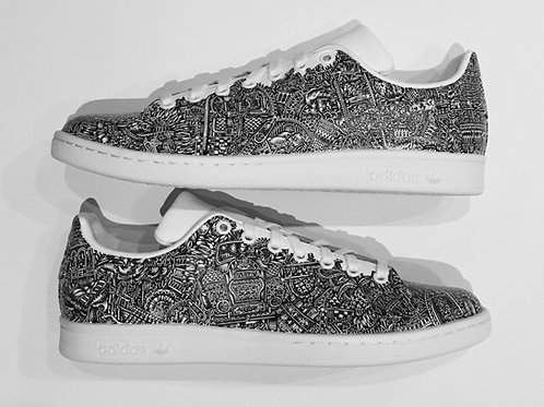 Adidas Ist Gut (2018) | Size 11 illustrated Stan Smith trainers