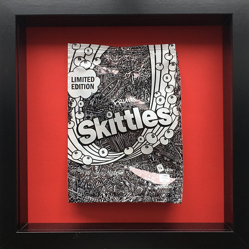 'No added sugar' Red-Original Illustrated skittles packet 1/1 (2017)