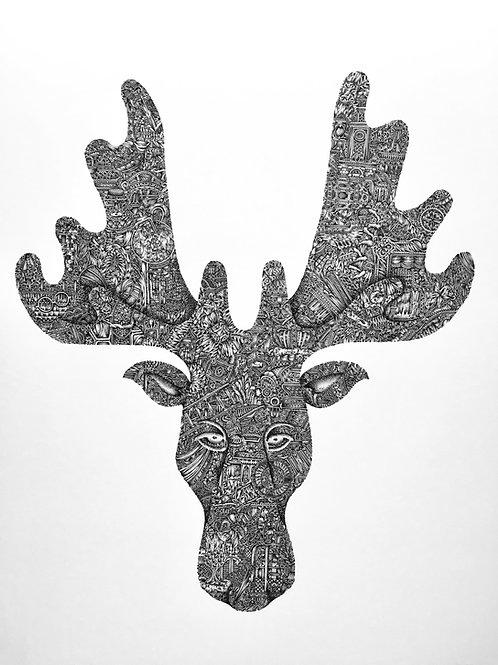 'Oh Deer, I'm Not a Moose' Giclée Print