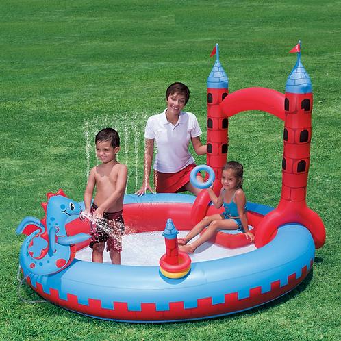 "53037B 87""x76""x59"" Interactive Castle Play Pool"