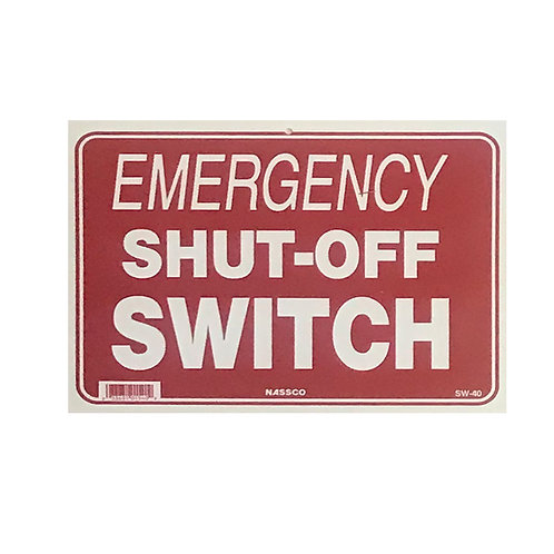 SI05 Shut off sign