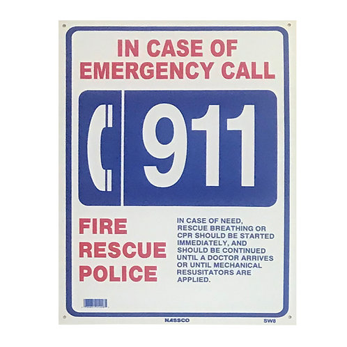 SI04 Call 911 sign