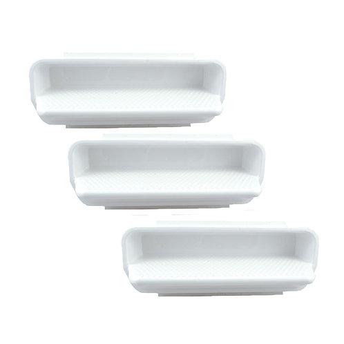 25578-000-000 Pool Wall Step (Set of 3) White