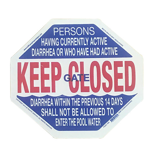 SI09 Keep Closed sign