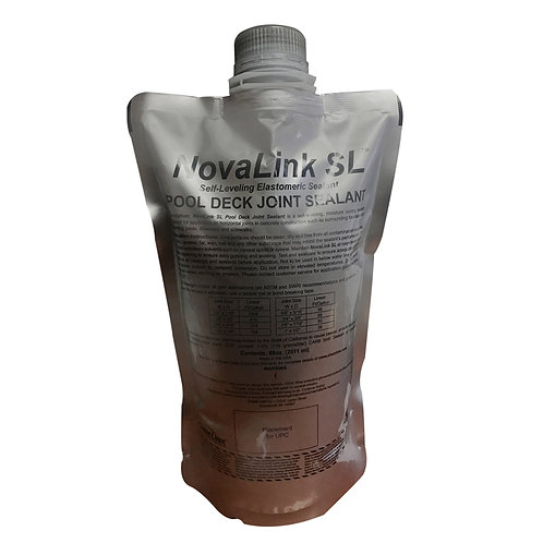 F1239S, NOVALINK SL POOL DECK JOINT SEALANT 68 Oz POUCH / 4 PER CARTON (STONE)