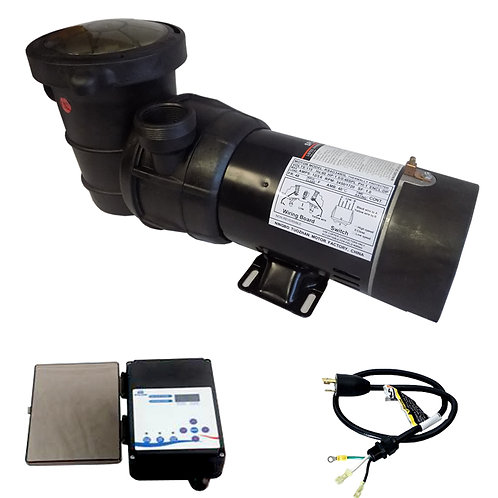 12726CTL Two Speed Above Ground Pump of 1HP SPL 115V with Controller and 3' Twis