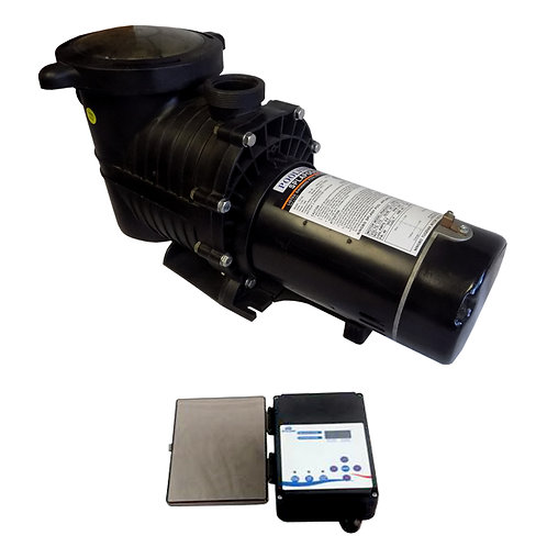 """12750C """"Two Speed Pump for  1 HP Pools, 1 HP/115 V with Controller"""""""