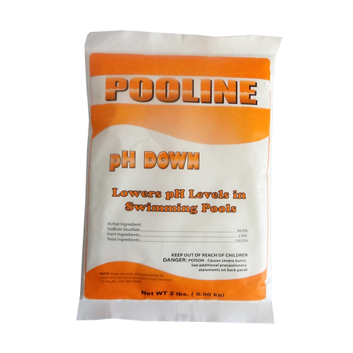 11908 Sodium Bisulfate in 2# Bags, Brand Name: Pooline pH Down
