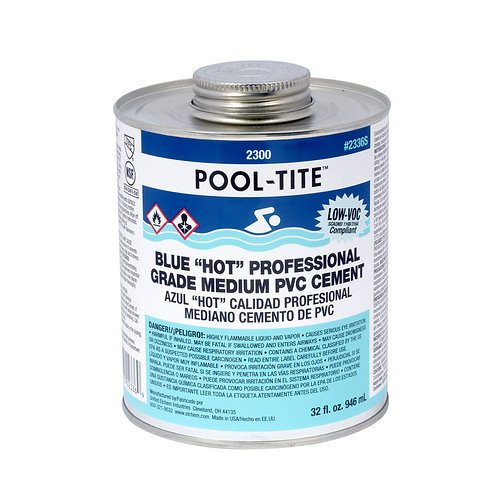2336S Blue Pool-Tite PVS Cement QT