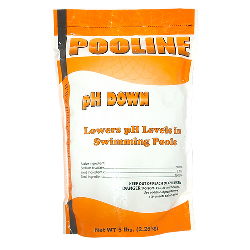 11907 Sodium Bisulfate in 5# Bags, Brand Name: Pooline pH Down