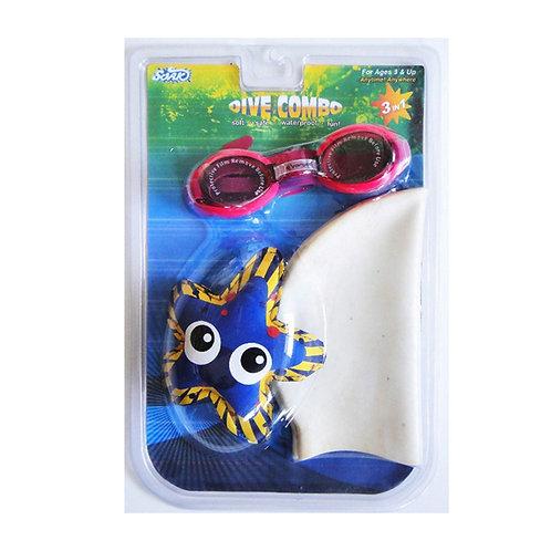 AX0103-A Dive Combo A (Goggles, Cap, Dive Animal)