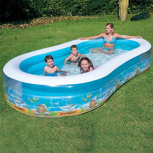 "54003B 138""x72""x22"" Sea Scene Family  Pool"