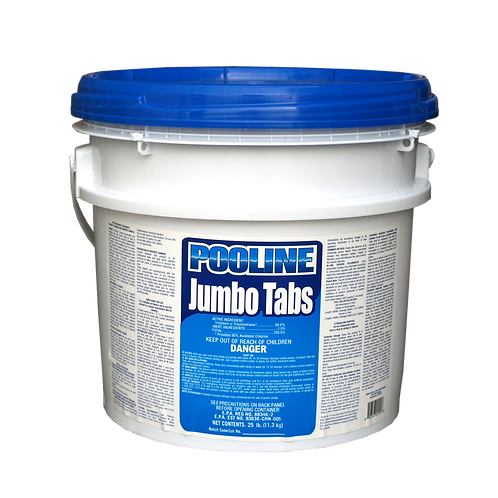 11924UN Trichlor Unwrapped 7 Oz Tabs in 25# Pails, Brand Name: Pooline Jumbo Tab