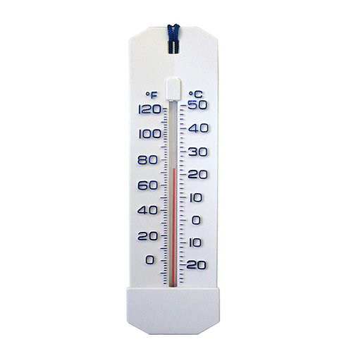 11050B Large Thermometer White ABS Molded