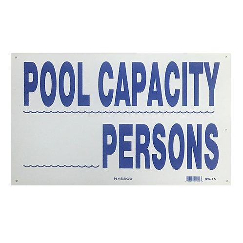 SI02 Pool Capacity sign