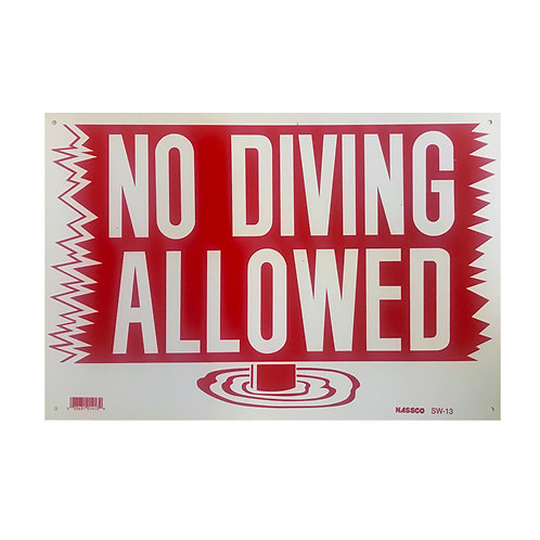 SI03 No Diving Sign