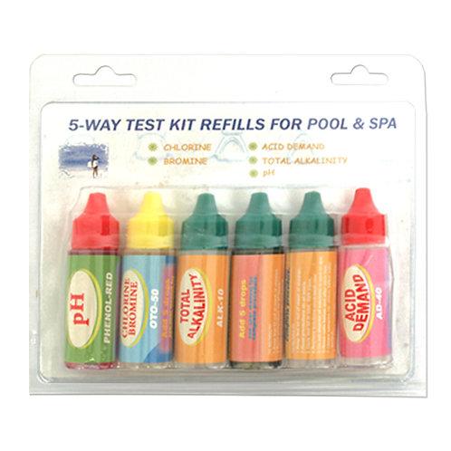11102-5 5 Way Test Kit Refill
