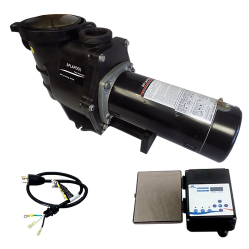 12755CTL Two Speed Pump of 1.5HP 230V with Controller and 3' Twist Lock Cord
