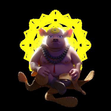Pig-monk design by Varguy