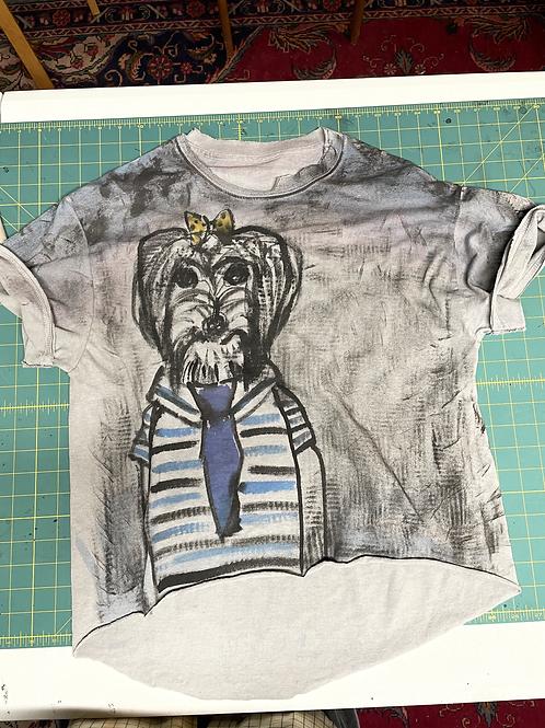 Hand Painted Dog T-Shirt