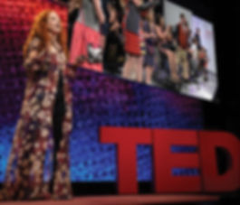 Mindy speaking at TED event