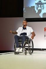 Male model in wheelchair