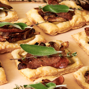 Caramelized Onion and Apple Tartlets