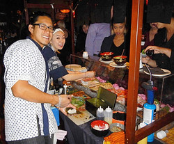 Ramon at the sushi cart