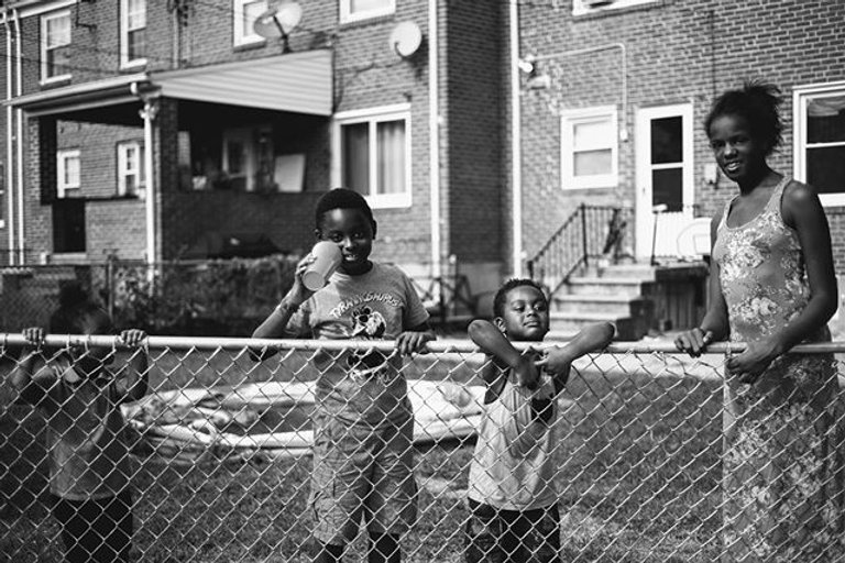 Baltimore, MD. Backyard, brothers & sist